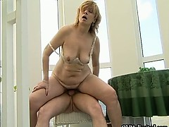 Nasty blonde mature slut gets horny part6