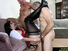euro-mature-in-stockings-spoils-two-dicks