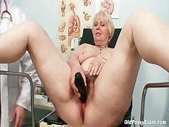 chubby-blond-mama-hairy-pussy-gyn-examination
