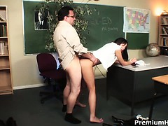 Naughty Schoolgirl Practice Hardcore After Classes With Her