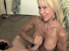 blonde-cougar-milf-beating-him-off