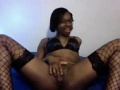 ebony-nerd-teasing-her-body