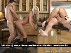 two-hot-couples-in-the-kitchen