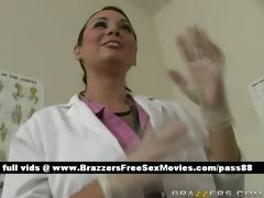 sexy-brunette-doctor-in-her-office