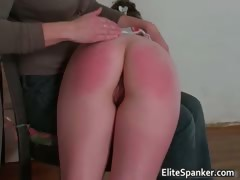 Sexy brunette gets her big butt spanked part5