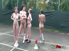 Tennis Hotties In Short Skirts Get Hazed